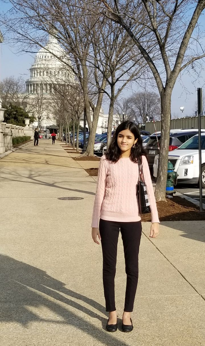 The author standing in front of the U.S. Capitol before the State of the Union address on Feb. 5, 2019.