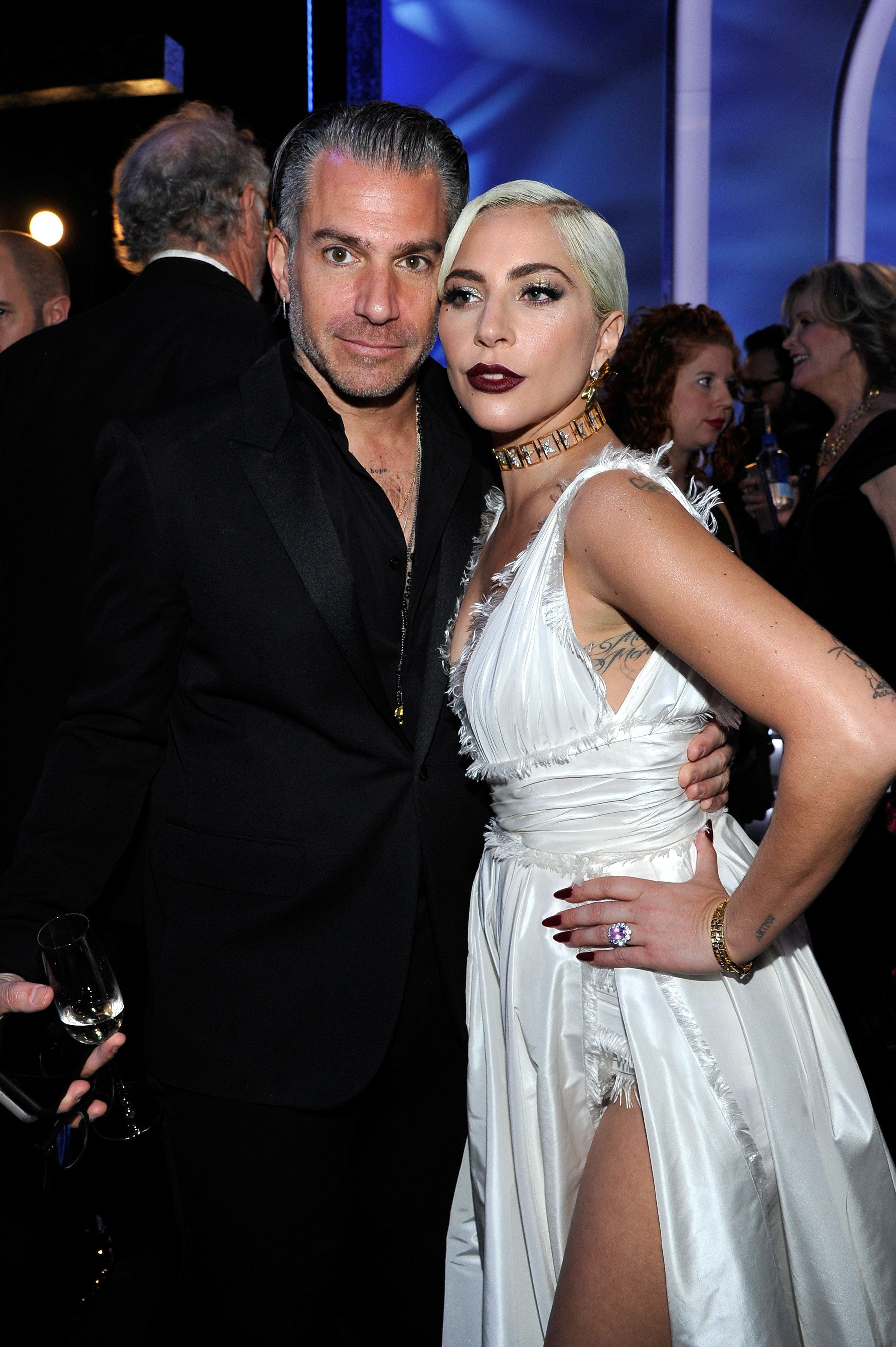 LOS ANGELES, CA - JANUARY 27:  Christian Carino (L) and Lady Gaga attend the 25th Annual Screen Actors Guild Awards at The Shrine Auditorium on January 27, 2019 in Los Angeles, California. 480720  (Photo by John Sciulli/Getty Images for Turner)