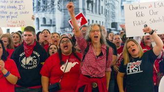 West Virginia teachers walking out again. (AP)