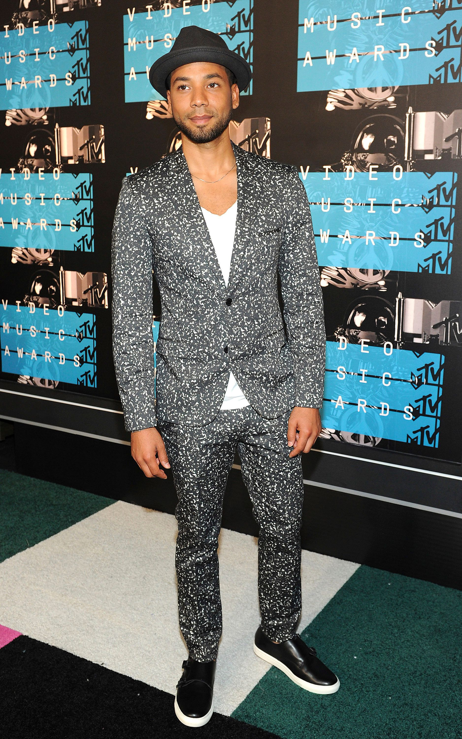 LOS ANGELES - AUGUST 30: Jussie Smollett arrives at the 2015 MTV Video Music Awards at the Microsoft Theater on August 30, 2015 in Los Angeles, California.Credit: FMPG/MediaPunch /IPX