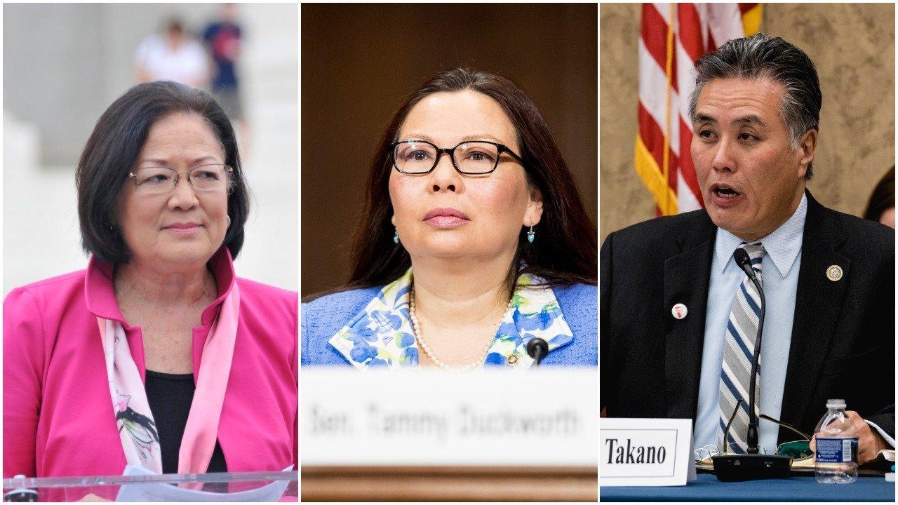 Mazie Hirono, Tammy Duckworth, Mark Takano