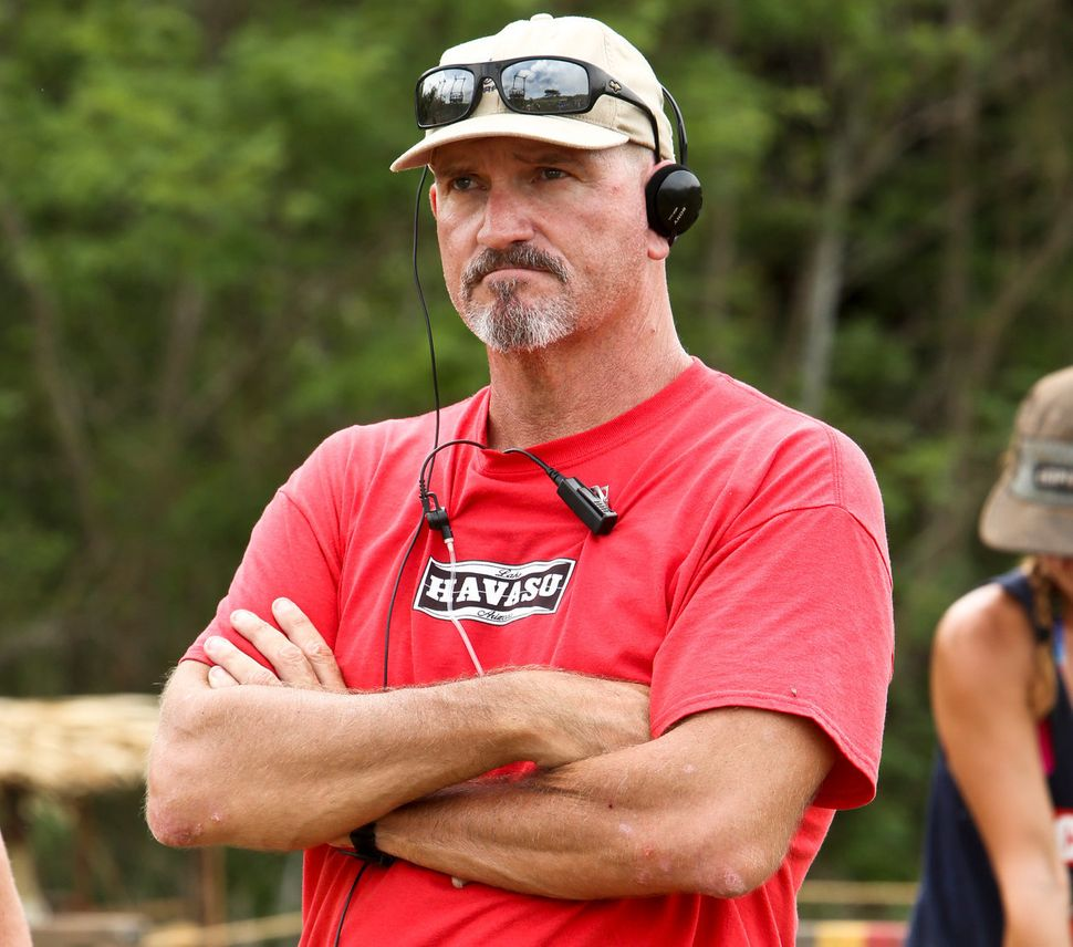 "John Kirhoffer on location for ""Survivor"". For the record, he is not 22. And despite his gruff appearance, he was nothing but"
