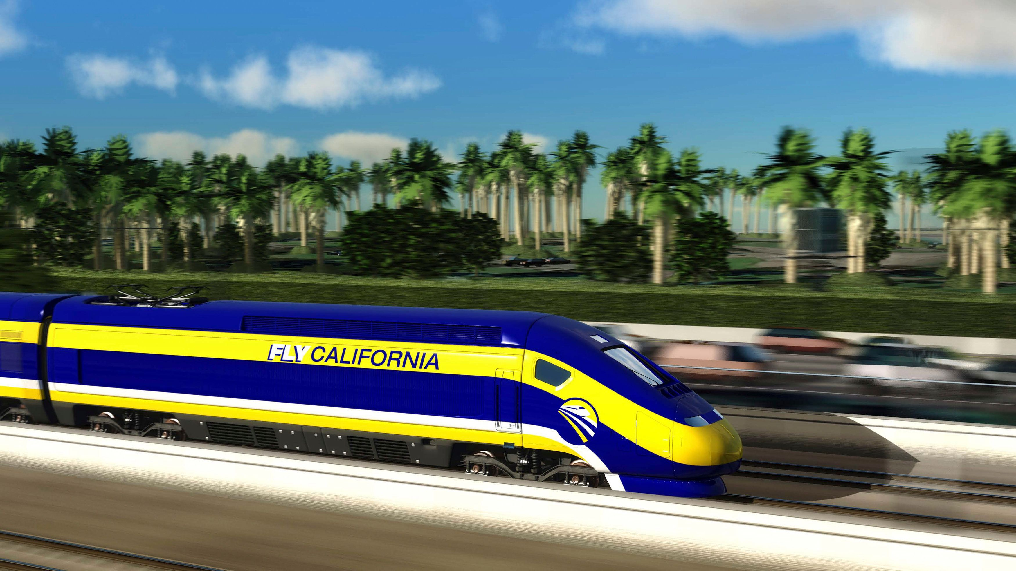 An artist's rendition courtesy of the California High-Speed Rail Authority shows a high speed train passing through Mission Beach, California. The California state Assembly approved an $8 billion high-speed rail financing plan that likely will face a tougher vote in the Senate over the system's projected $68 billion cost and concerns about its management. REUTERS/California High-Speed Rail Authority/Handout (UNITED STATES - Tags: TRANSPORT POLITICS BUSINESS) FOR EDITORIAL USE ONLY. NOT FOR SALE FOR MARKETING OR ADVERTISING CAMPAIGNS. THIS IMAGE HAS BEEN SUPPLIED BY A THIRD PARTY. IT IS DISTRIBUTED, EXACTLY AS RECEIVED BY REUTERS, AS A SERVICE TO CLIENTS