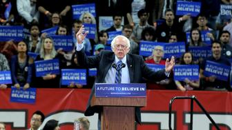 "Photo by: Dennis Van Tine/STAR MAX/IPx 5/8/16 Bernie Sanders at Bernie Sanders ""A Future to Believe In"" Rally. (New Brunswick, New Jersey)"