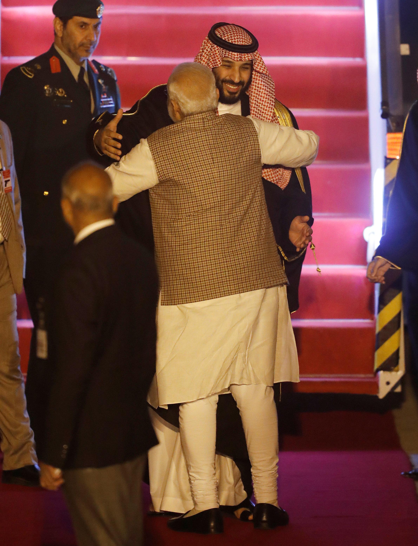 Modi Breaks Protocol To Personally Welcome Saudi Arabia's Crown Prince Mohammed Bin
