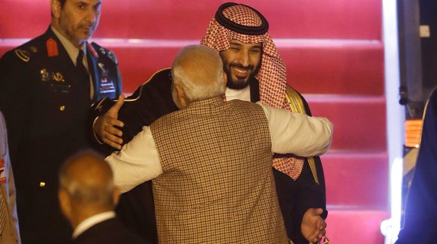 Modi Breaks Protocol To Personally Welcome Saudi Arabia's Crown Prince Mohammed Bin