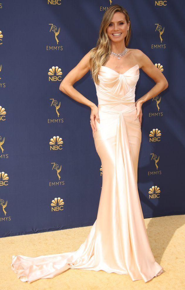Heidi Klum, who Karl Lagerfeld described as