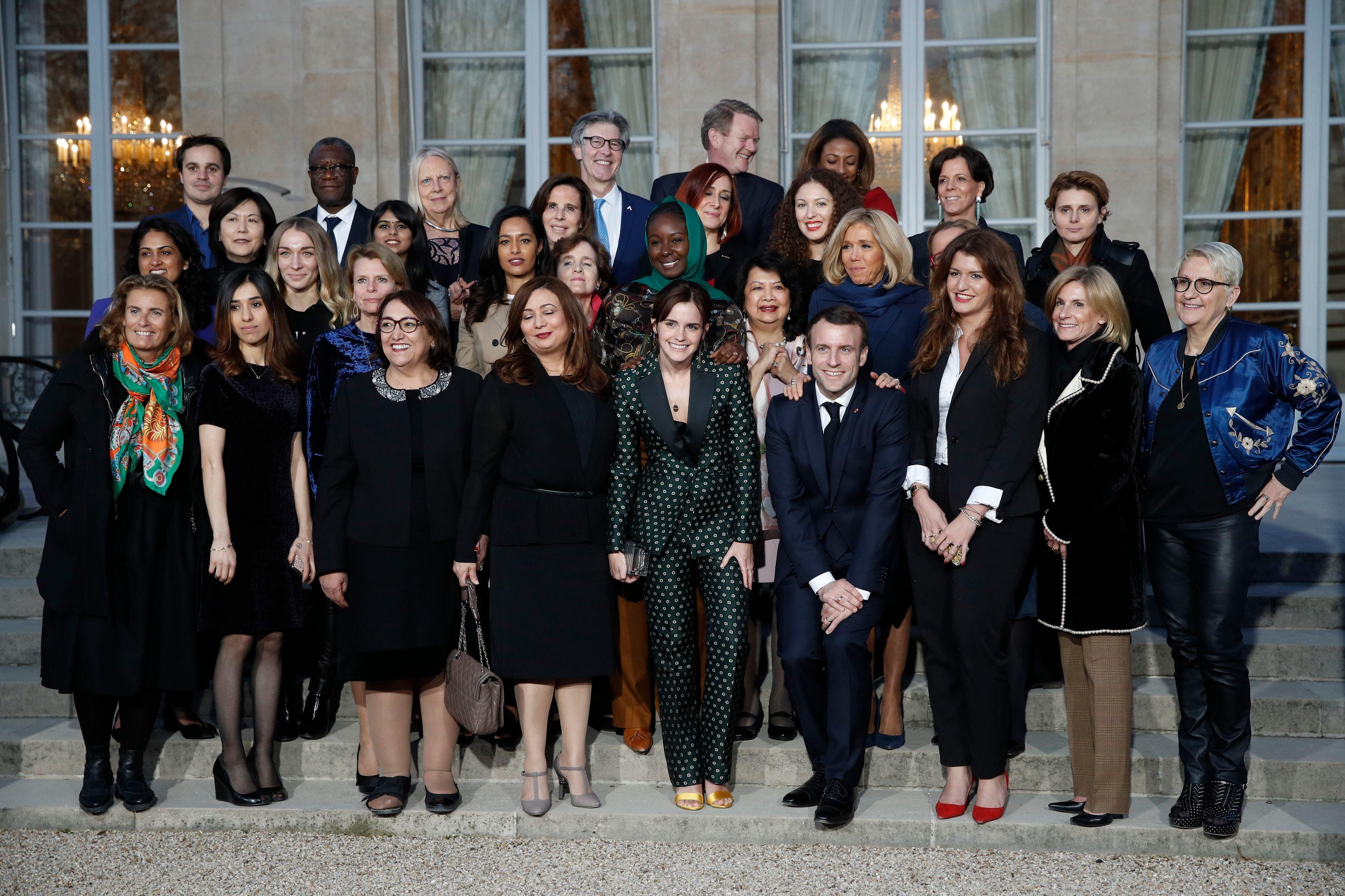 Wided Bouchamaoui et Bochra Bel Haj Hmida, membres du conseil consultatif pour l'égalité Femmes-Hommes du G7