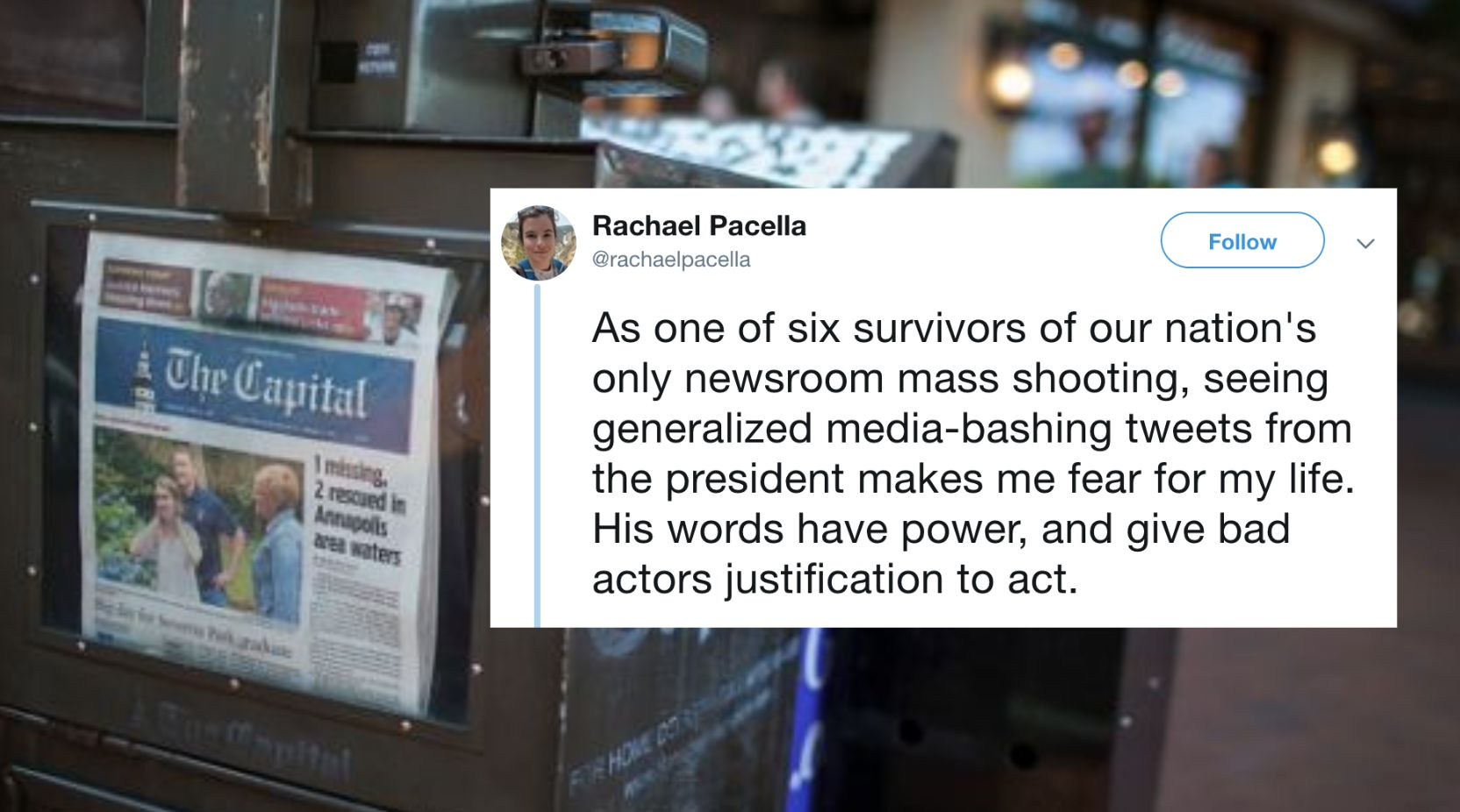 Capital Gazette Shooting Survivor: Trump's Media-Bashing Makes Me Fear For My