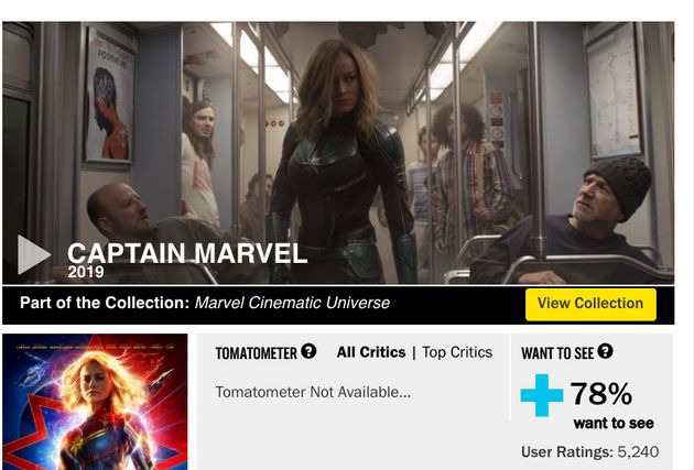 Rotten Tomatoes screenshot from Tuesday, Feb