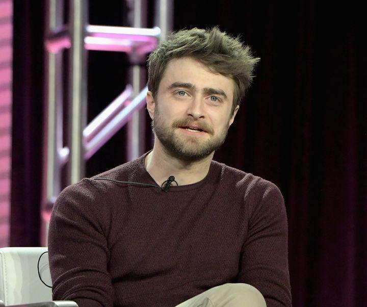 """Daniel Radcliffe of """"Miracle Workers"""" speaks onstage on Feb.11 in Pasadena, California."""