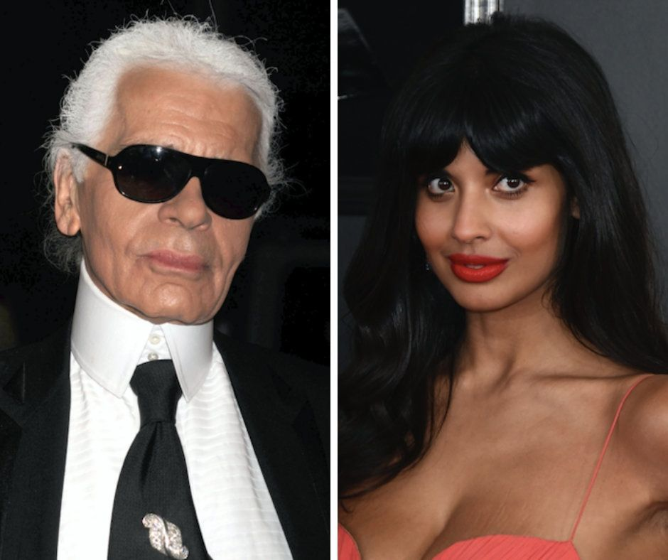 """Talented for sure, but not the best person,"" actress Jameela Jamil tweeted of designer Karl Lagerfeld."