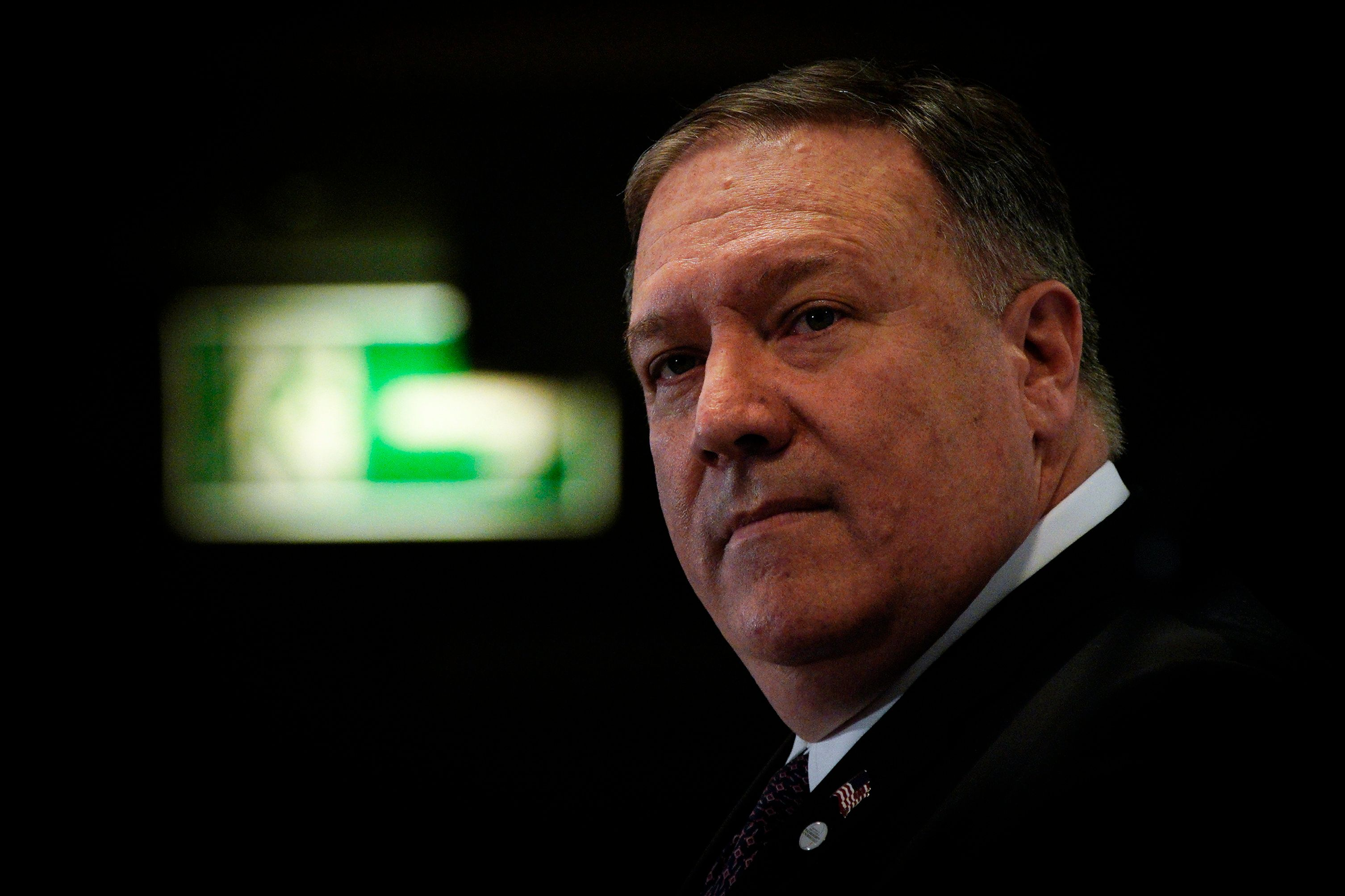 US Secretary of State Mike Pompeo is seen at the final press conference of the Middle Easat summit in Warsaw, Poland on February 14, 2019. The summit, in which 65 countries are taking part has been widely criticised as an attempt by the US and it's allies to isolate Iran. The outcome of the summit might determine who will take up Washington's diminishing role in the region as the Trump administration withdraws troops from Syria and after it pulled out of the nuclear non-proliferation agreement with Iran. (Photo by Jaap Arriens/NurPhoto via Getty Images)