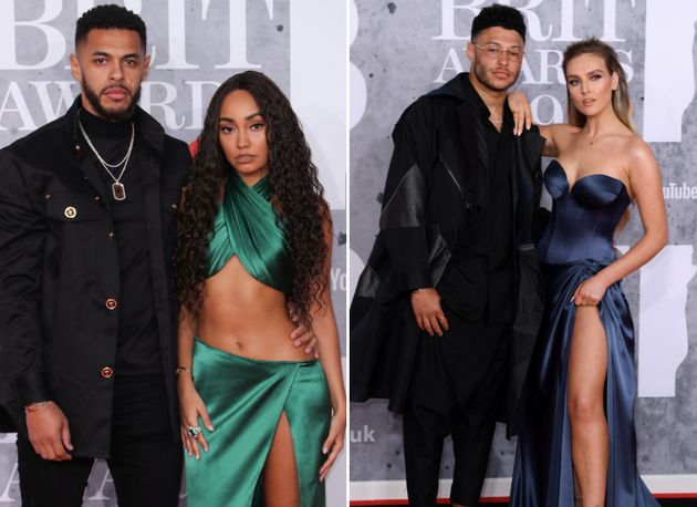 Leigh-Anne Pinnock and Perrie Edwards pose with their