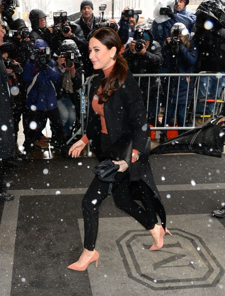 Stylist Jessica Mulroney arrives at the Mark.