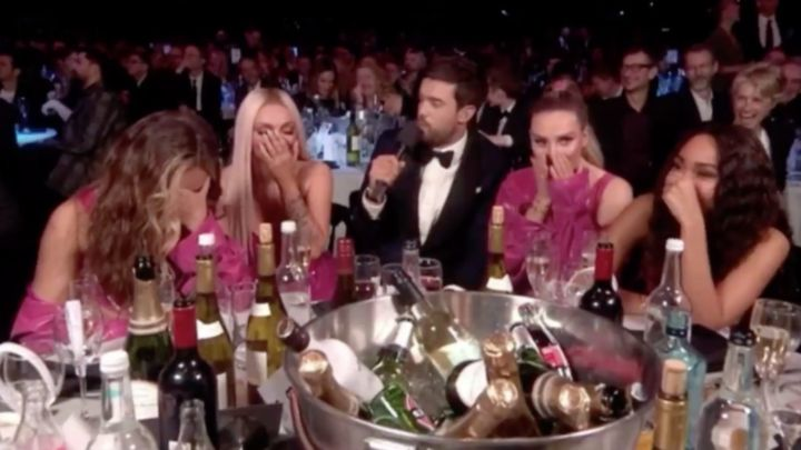 Little Mix at the Brits, with Jack Whitehall