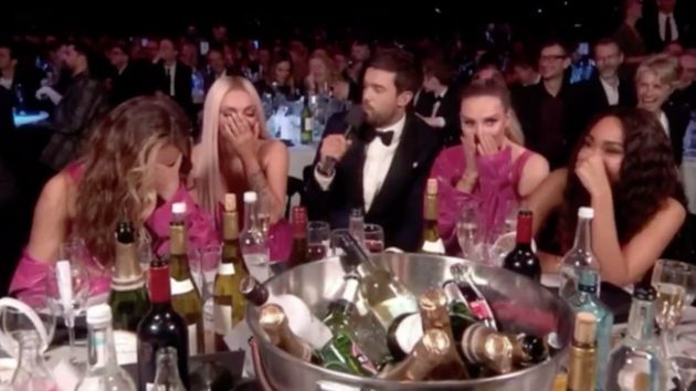 Jack Whitehall joked about Jesy's kiss with Chris at last week's Brit