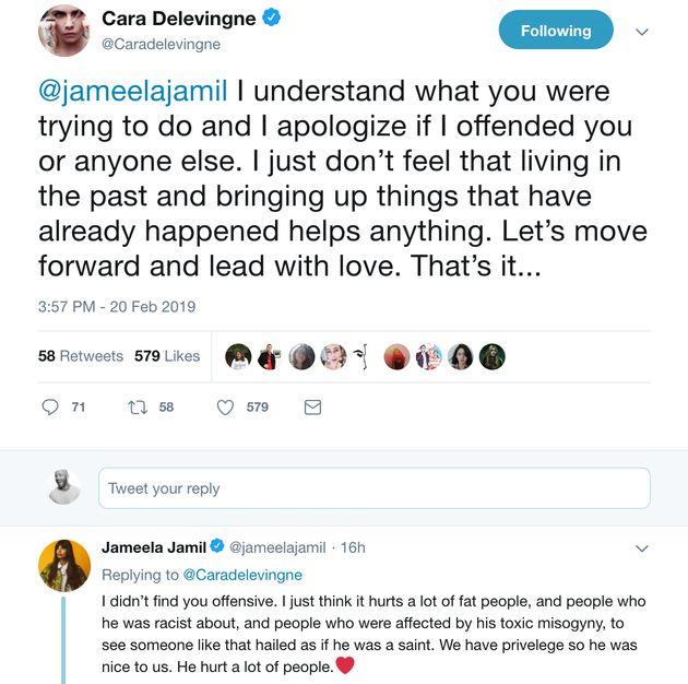 Cara Delevingne Challenges Jameela Jamil After Actress Labels Karl Lagerfeld A 'Fat-Phobic