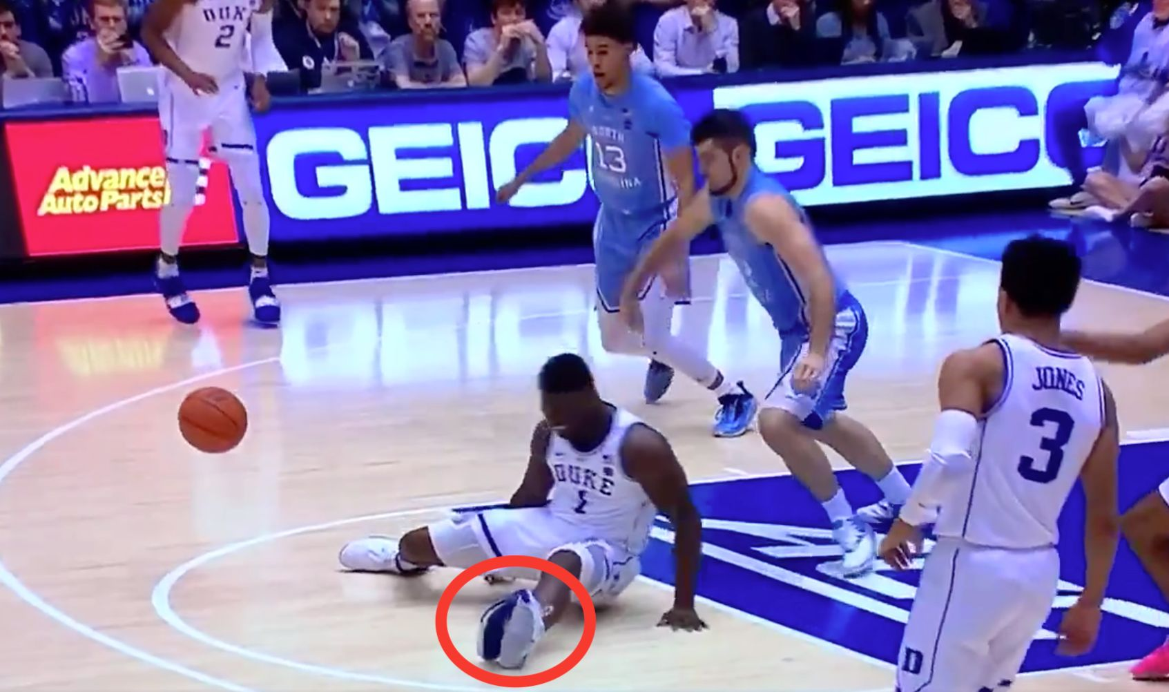 Nike Basketball Shoe Blows Out