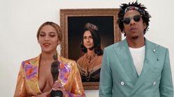 """Aux Brit Awards 2019, Beyoncé et Jay-Z """"s'inclinent"""" devant la reine Meghan"""
