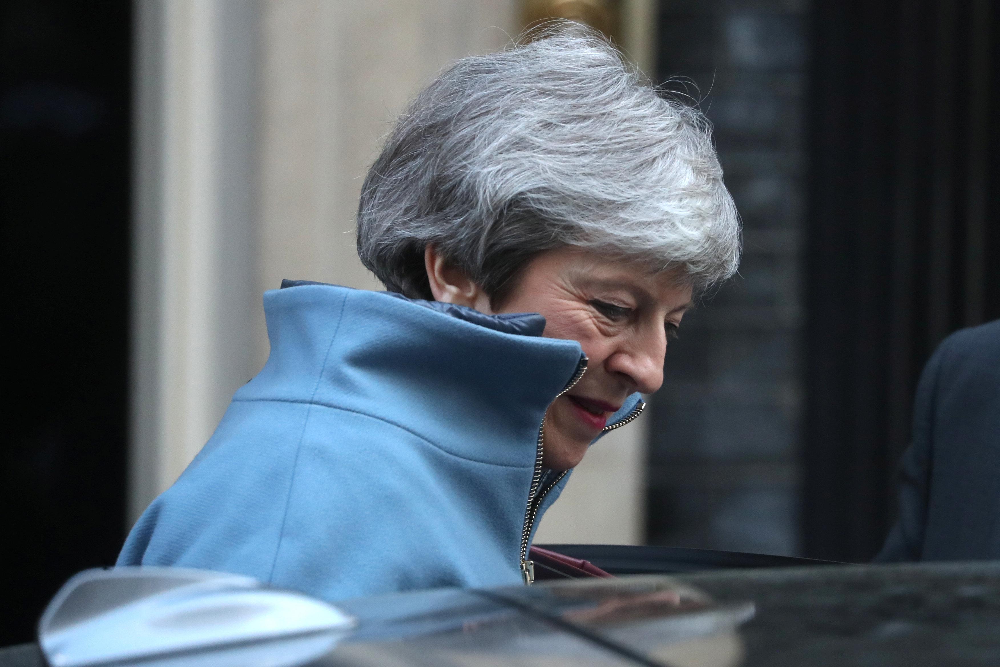 Könnte im Streit um den Brexit ihre Regierungsmehrheit verlieren: Großbritanniens Premierministern...