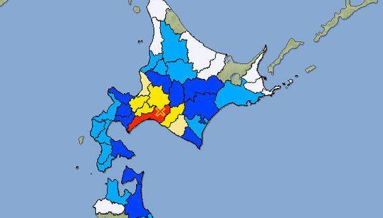 【地震情報】北海道厚真町で震度6弱 津波の心配なし