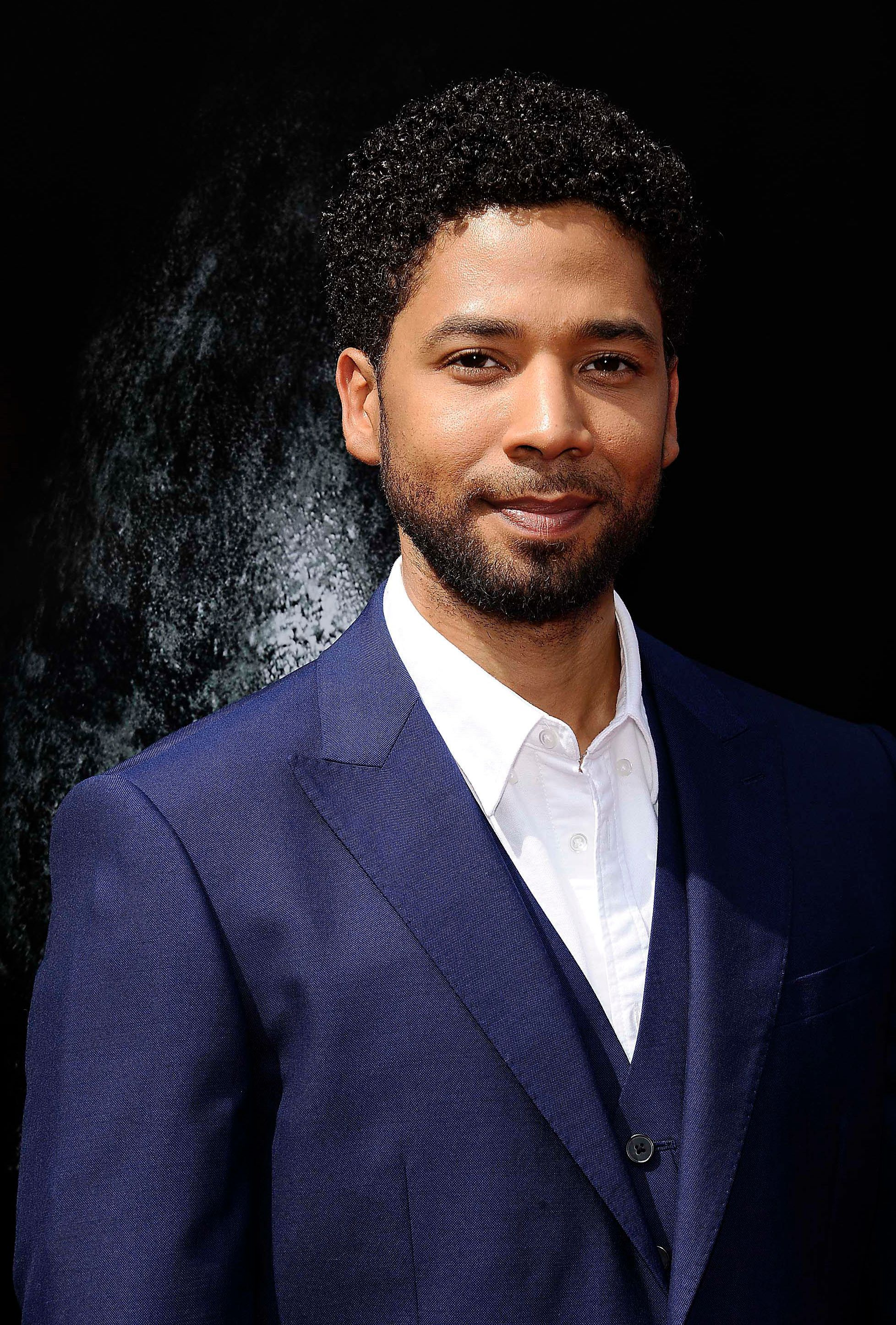 """February 21st 2019 - Jussie Smollett is under arrest in custody of Chicago police. He has been charged with Disorderly Conduct / Filing A False Police Report in connection with the January 29th incident in which he claimed he was the victim of an attack. Following below, these charges allege that Smollett orchestrated the attack. - February 18th 2019 - The investigation of the alleged attack on actor Jussie Smollet continues with new evidence suggesting that Smollett may have orchestrated the attack. Smollett continues to deny any involvement in said orchestration according to a statement from his attorneys. Update to the following - January 29th 2019 - Actor Jussie Smollett was the victim of an attack in Chicago, Illinois which is being investigated as a possible hate crime. According to police reports, he was assaulted after leaving a fast food restaurant by two men in ski masks who made racial and homophobic slurs and then poured an unknown liquid on Smollett and put a noose around his neck. Smollett identifies himself as a gay man and his mother is African-American. Further reports claim Smollett told police that his attackers touted """"MAGA"""" (Make America Great Again) during the assault. Smollett said that he fought off the attackers and then admitted himself to Northwestern Memorial Hospital from which he was released """"in good condition"""" later that morning. - File Photo by: zz/Michael Germana/STAR MAX/IPx 2017 5/17/17 Jussie Smollett at a Hand and Foot Print Ceremony honoring Sir Ridley Scott at the TCL Chinese Theatre in Los Angeles, CA."""