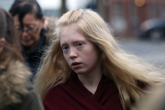 Alesha's mother, Georgina Lochrane arriving at the High Court in Glasgow on