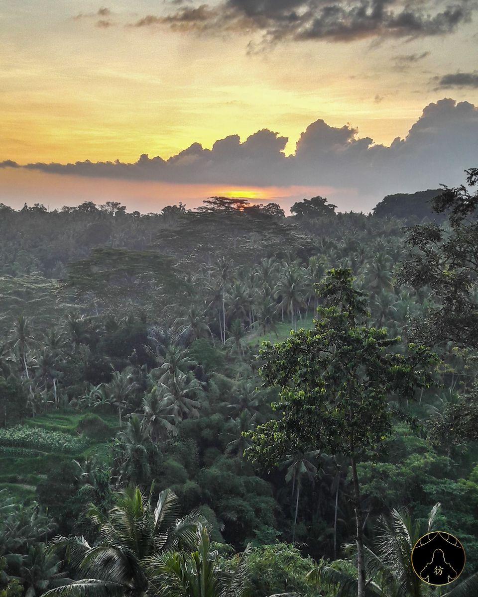 Coucher de soleil à Ubud,