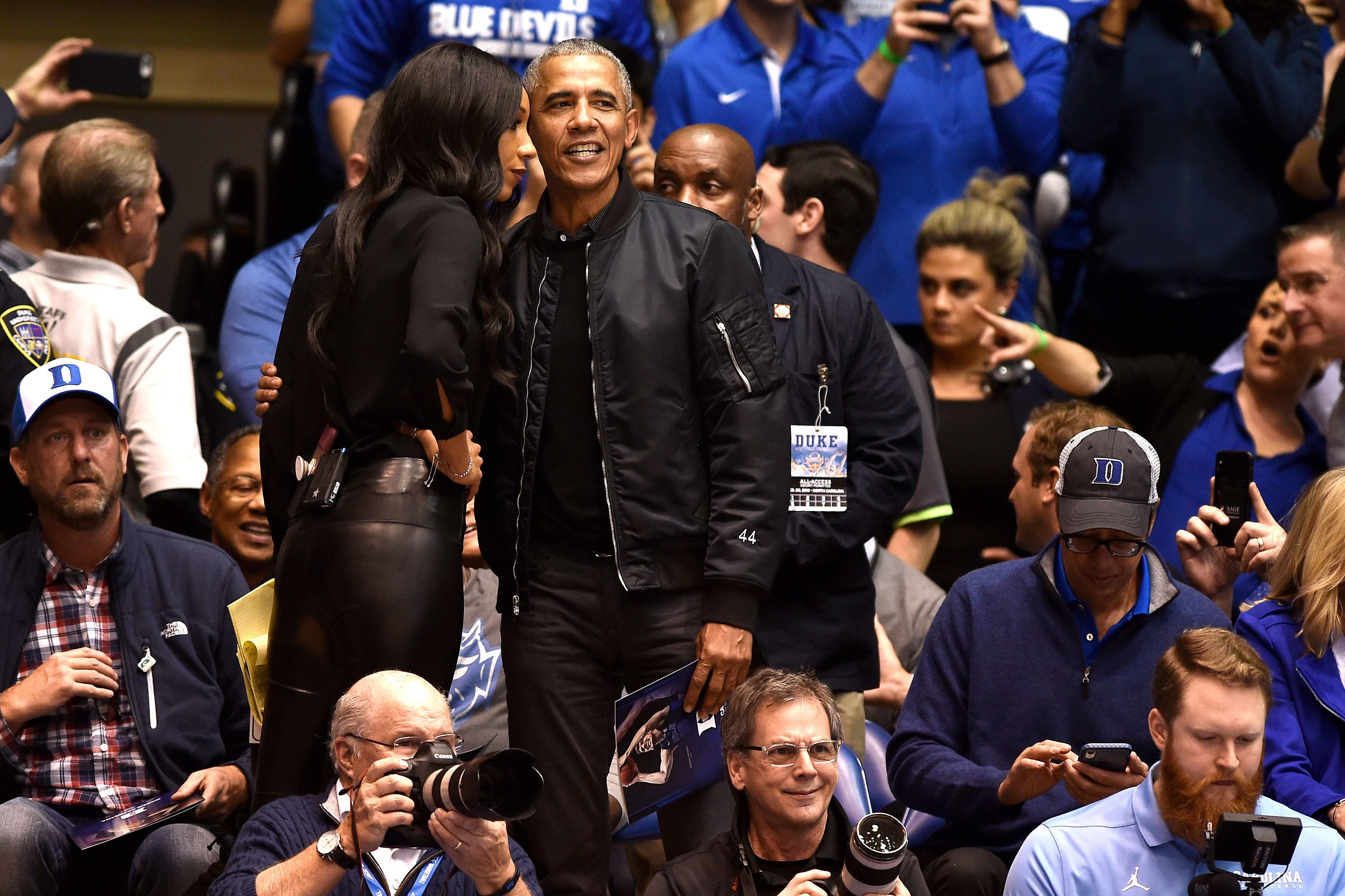 People Are Extremely Into Barack Obama's Bomber Jacket With '44' On The Sleeve