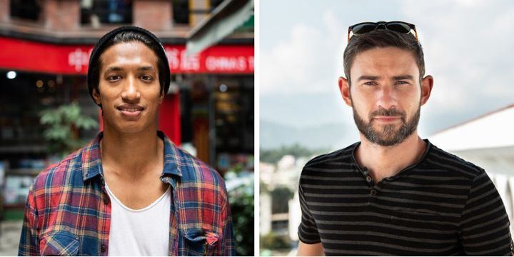 """Denom from Nepal and Sam, a U.K. and Australia resident, both participated in photographer Jessica Amity's new photo series,""""To Be A Man."""""""