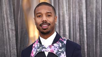 Michael B. Jordan arrives at the 25th annual Screen Actors Guild Awards at the Shrine Auditorium & Expo Hall on Sunday, Jan. 27, 2019, in Los Angeles. (Photo by Matt Sayles/Invision/AP)
