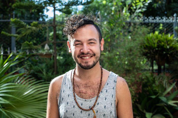 Caspar, um dos homens que participou da série fotográfica de Jessica Amity.