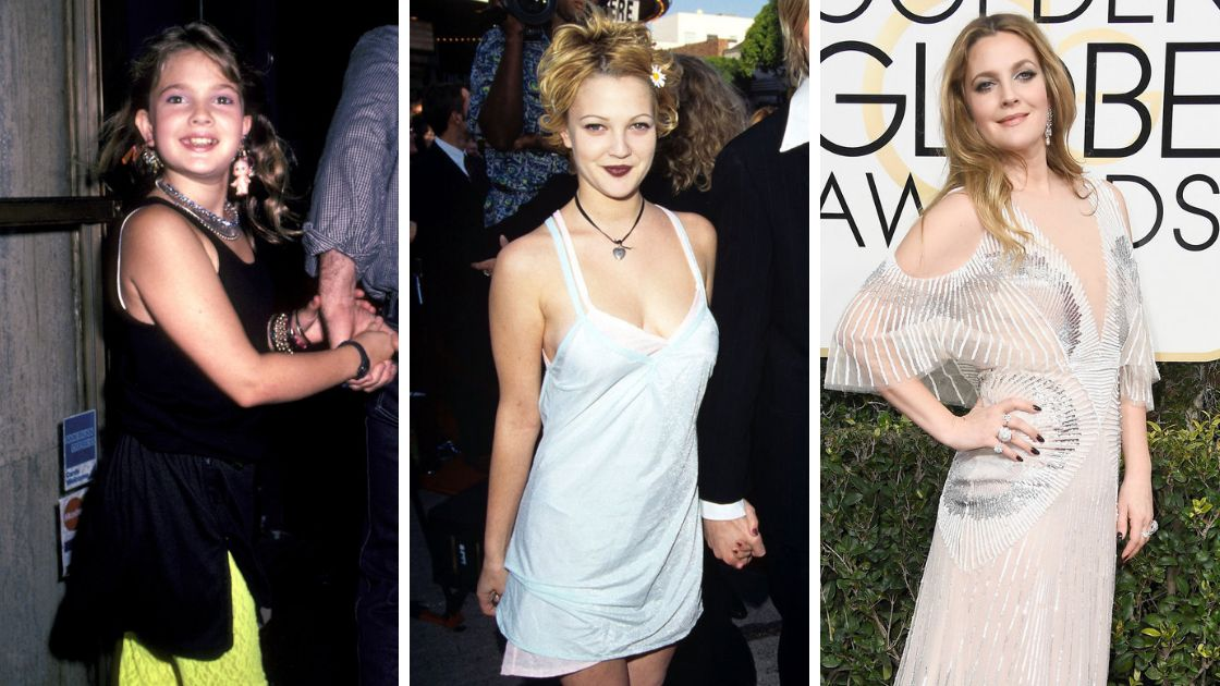 Drew Barrymore has gone through a range of styles in her life.