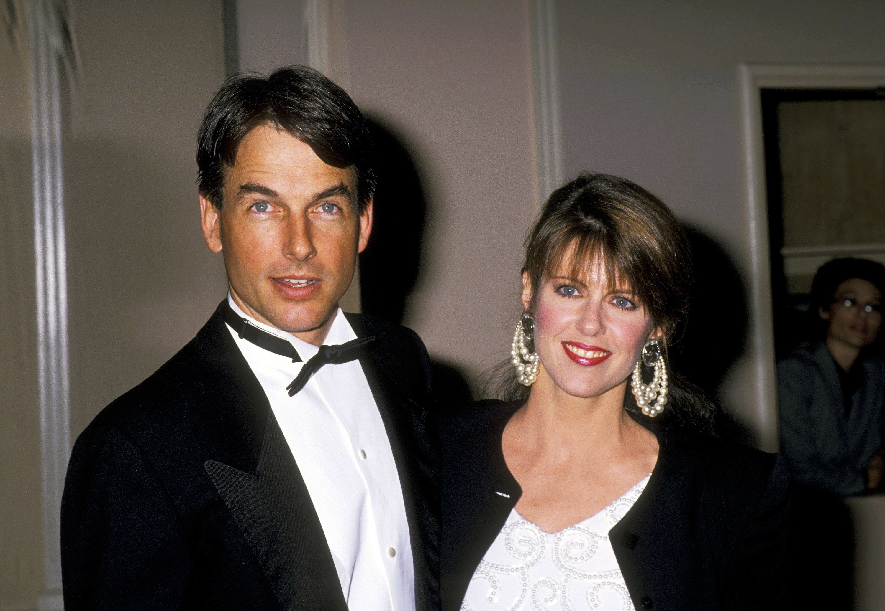 Pam Dawber and husband Mark Harmon at an event in 1989.