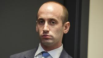 Stephen Miller, White House senior adviser, watches as U.S. President Donald Trump, not pictured, speaks during an event with families who have lost relatives to crimes caused by illegal immigrants at the Eisenhower Executive Office Building in Washington, D.C., U.S. on Friday, June 22, 2018. After insisting that Congress act to address immigration, President Donald Trump added to the turmoil on Friday morning with a tweet urging Republican lawmakers to stop 'wasting their time' by trying to pass a measure until after the November elections. Photographer: Joshua Roberts/Bloomberg via Getty Images