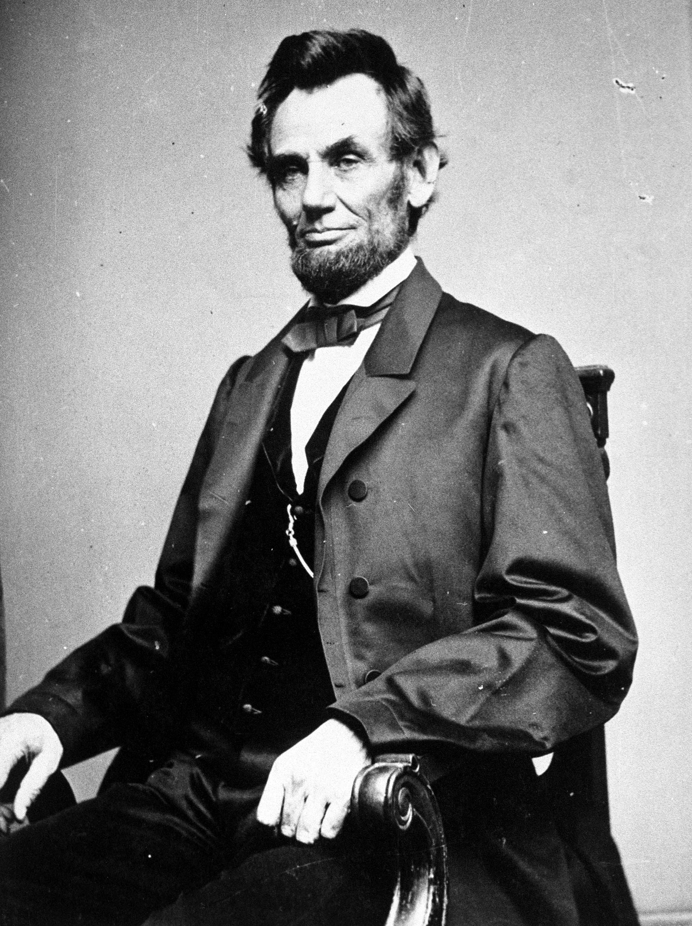 377869 16: (FILE PHOTO) A photographic portrait is displayed showing Abraham Lincoln, the 16th president of the United States. Retired physician and medical historian, Norbert Hirschhorn wrote a study that suggests Lincoln''s use of a medication in the form of a blue pill for depression contained enough mercury to cause uncontrollable bouts of anger in the President and could have eventually killed him had he not stopped taking the pills. (Photo by Hulton/Archive/Getty Images)