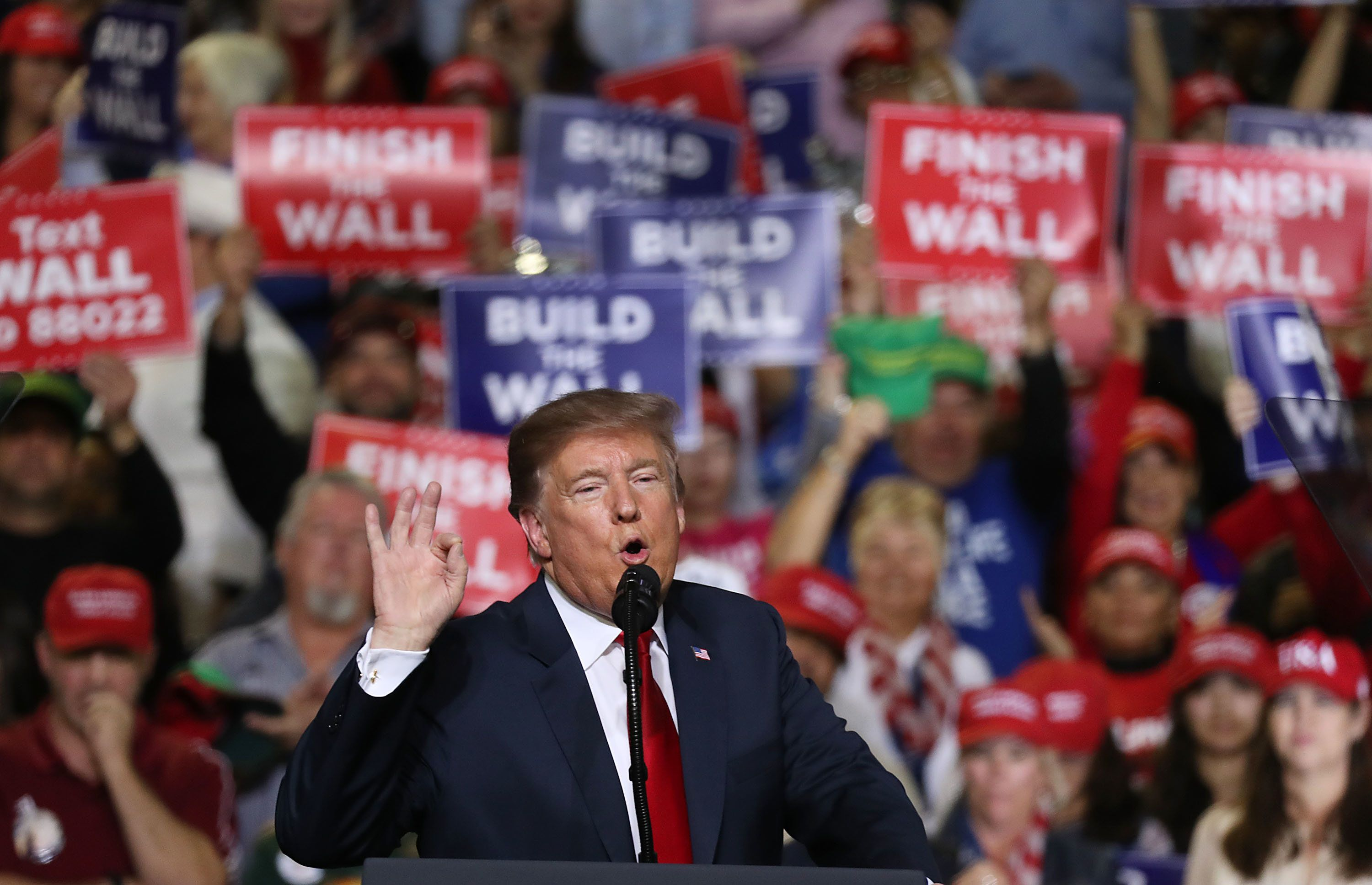 Donald Trump Hails Just Built Border Wall But Uses Months-Old Footage