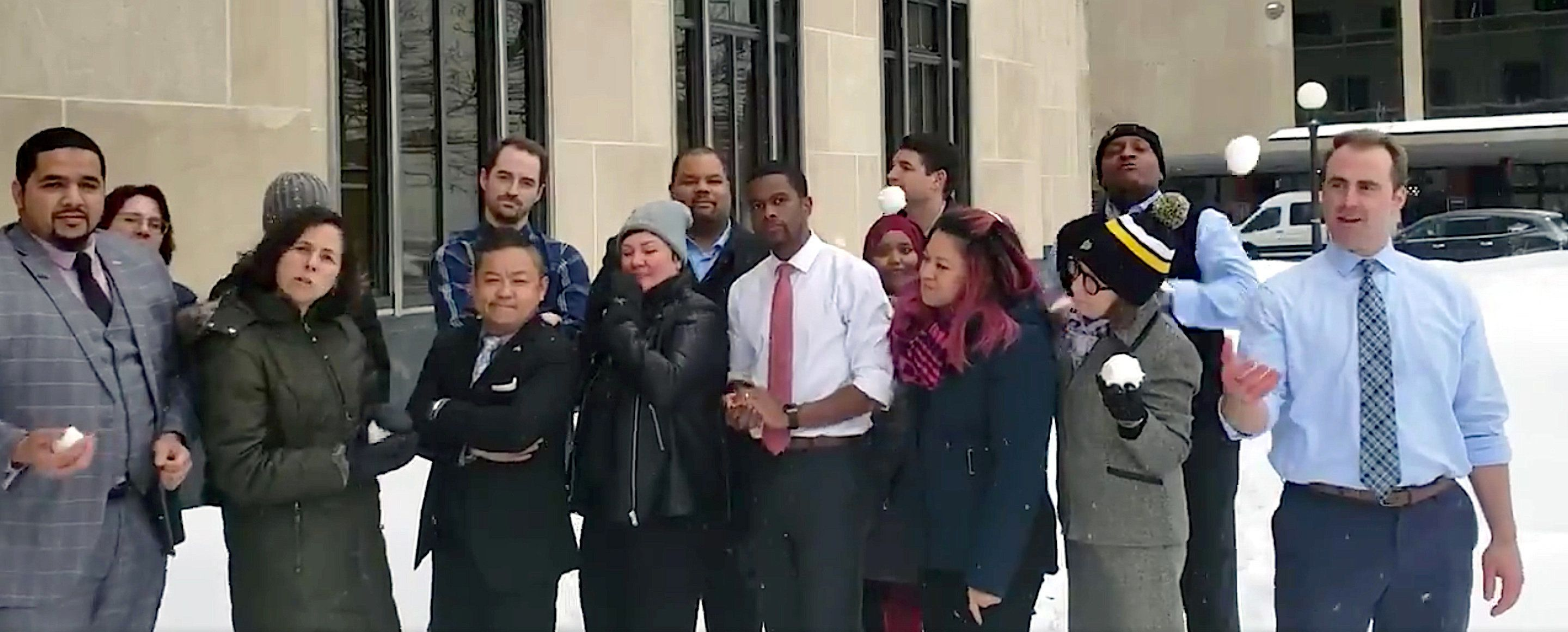 St. Paul Mayor Melvin Carter and the City Council challenge Minneapolis to a snowball fight.