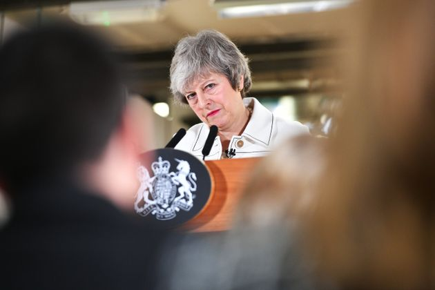 Theresa May visited Stoke potteries firms in