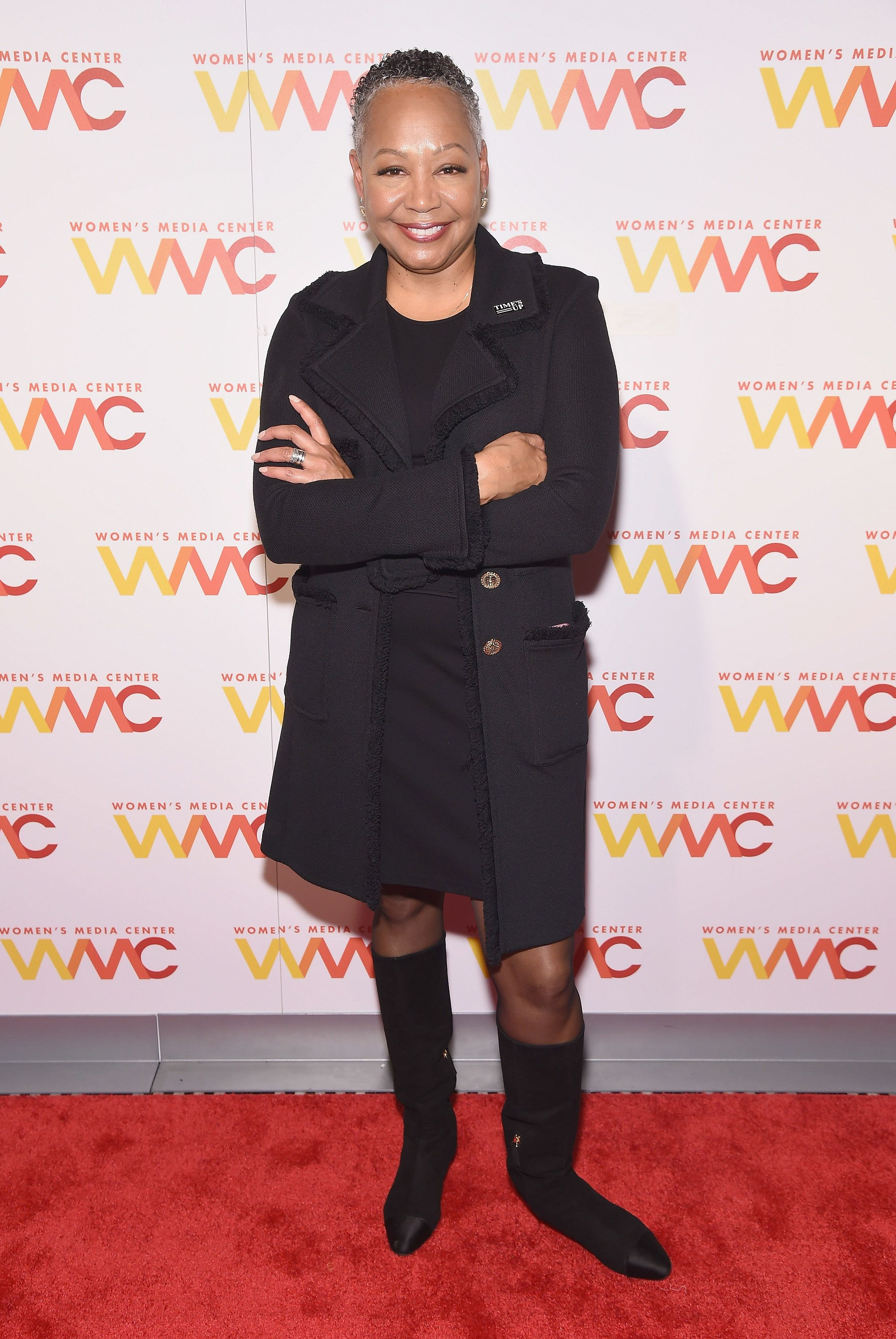 NEW YORK, NY - NOVEMBER 01:  First President & CEO of Time's Up, event honoree Lisa Borders  attends the Women's Media Center 2018 Women's Media Awards at Capitale on November 1, 2018 in New York City.  (Photo by Gary Gershoff/Getty Images)