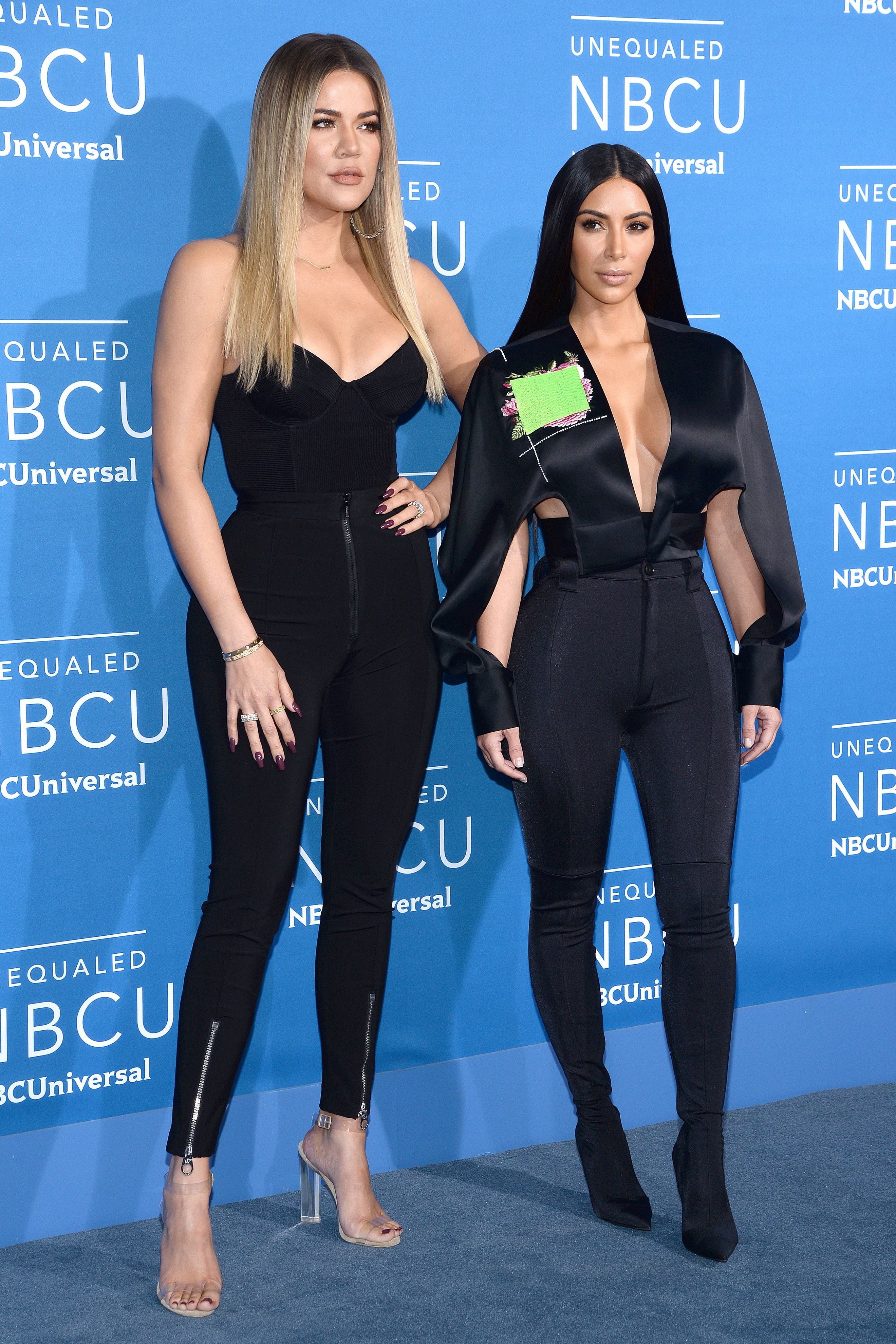 Khloe and Kim Kardashian attend the NBCUniversal upfront event in New York City in May 2017. Kim defended her younger si
