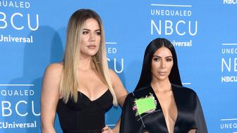 Kim Kardashian and Khloe Kardashian attend the 2017 NBCUniversal Upfront at Radio City Music Hall in New York, NY, on May 15, 2017. (Photo by Anthony Behar) *** Please Use Credit from Credit Field ***