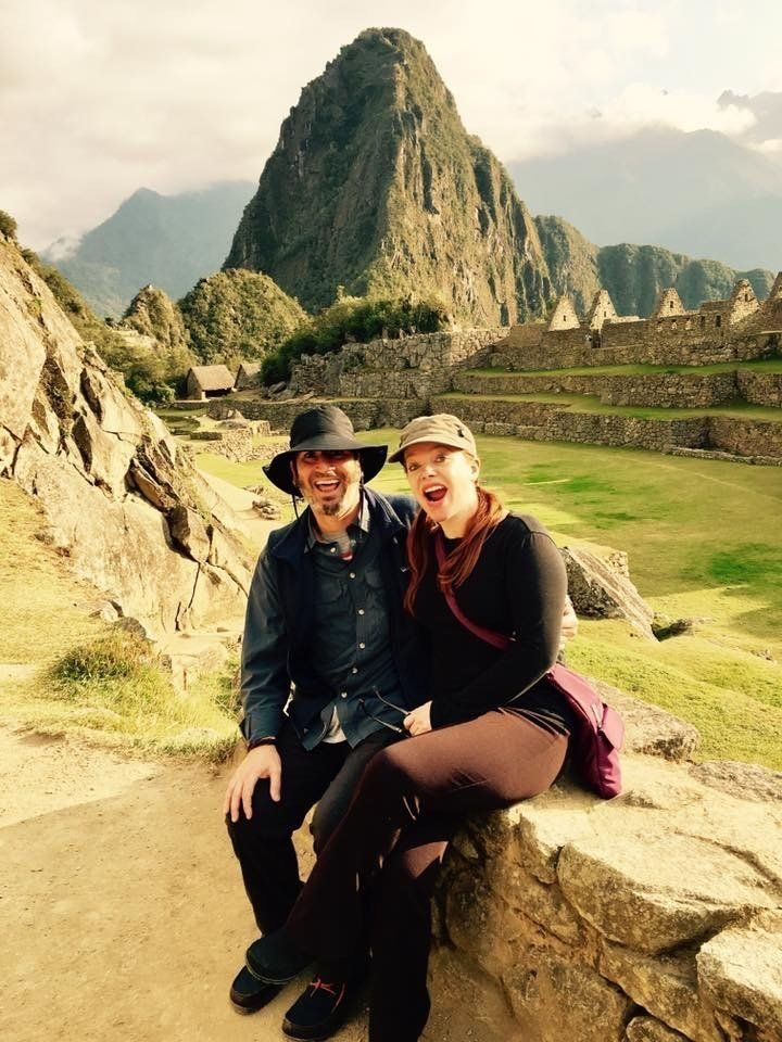 Piazza and her husband, Theo, visiting Machu Picchu in 2017.