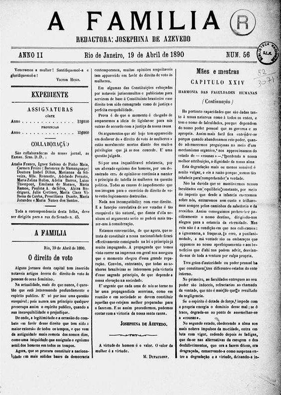 Jornal de 1890 trouxe manifesto pela candidatura deIsabel