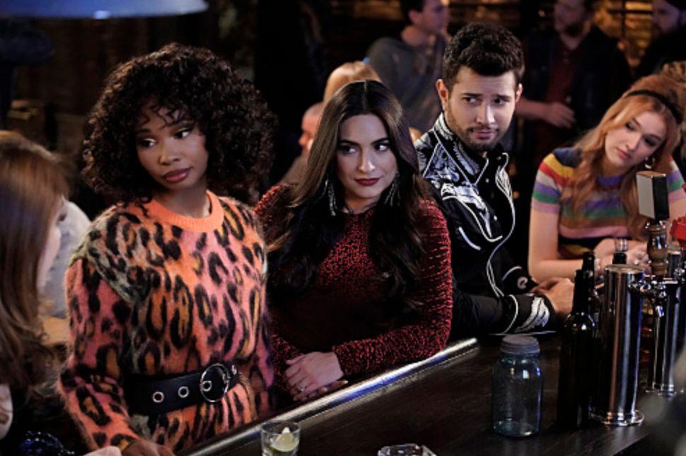 """Dynasty"" actors Wakeema Hollis as Monica, Ana Brenda Contreras as the other Cristal, Rafael de la Fuente as Sammy Jo and Mad"
