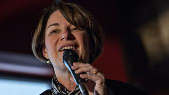 Senator Amy Klobuchar, a Democrat from Minnesota and 2020 presidential candidate, speaks during a campaign stop in Knoxville, Iowa, U.S., on Sunday, Feb. 17, 2019. The Democratic National Committee announced that the party is prepared to include as many as 20 candidates in its first two presidential primary debates. Photographer: Daniel Acker/Bloomberg via Getty Images