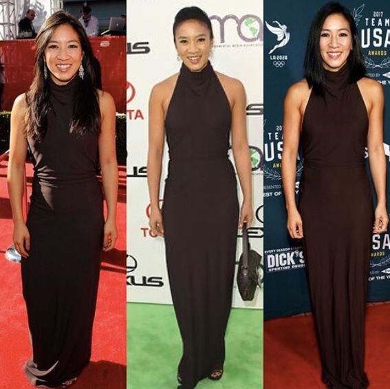 Michelle Kwan Wears The Same Dress To 3 Events, Lands A Triple