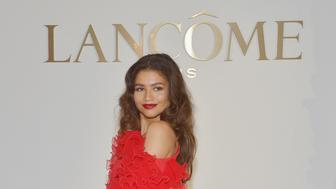 LOS ANGELES, CALIFORNIA - FEBRUARY 21: Lancôme Announces Zendaya as New Global Brand Ambassadress at Four Seasons Los Angeles at Beverly Hills on February 21, 2019 in Los Angeles, California. (Photo by Donato Sardella/Getty Images for Lancôme )
