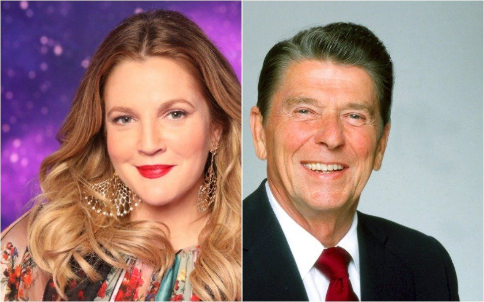 Drew Barrymore and Ronald Reagan